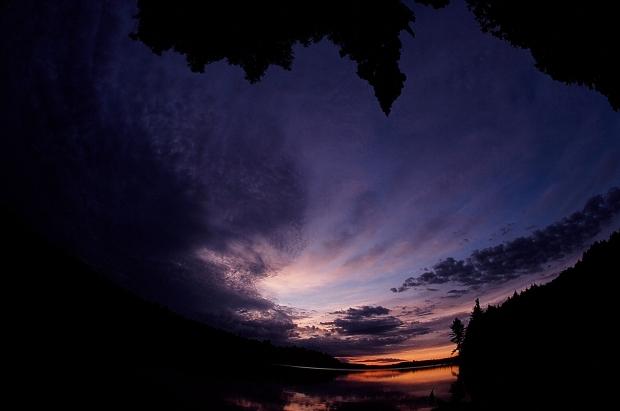 Dawn over Maple Lake.