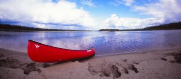 Carl the canoe on the beach
