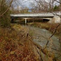 Little Rouge Creek passes under Steeles Avenue