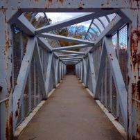 Pedestrian bridge over the Rouge