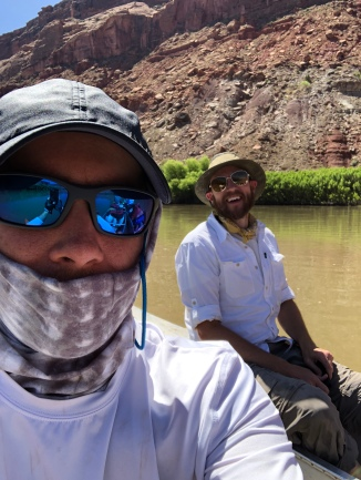 Staying cool on the river (selfie by Dave)
