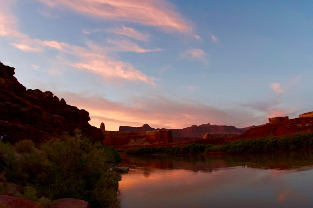 Sunset over the Green River