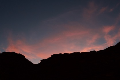 Afterglow above the Turk's Head campsite