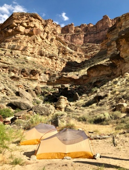 Campsite at Powell Canyon